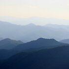 The Smoky Mountains along the Blue Ridge Parkway in North Carolina by Paula Tohline  Calhoun