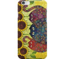 Cats With Sunflowers iPhone Case/Skin