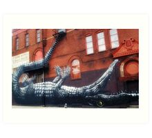 Crocodile on the corner Art Print