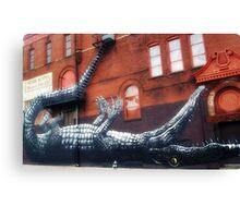 Crocodile on the corner Canvas Print