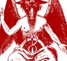 Baphomet & Satanic Crosses with Hail Satan Inscription Sticker Sticker