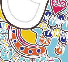 Boho-chic folk decorated bright chick Sticker