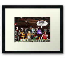 ~ So these robots walk into a bar ...  Framed Print