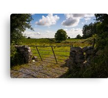 Gate to the Burren fields Canvas Print