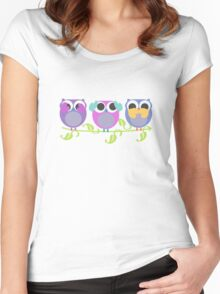 three wise owls Women's Fitted Scoop T-Shirt