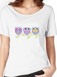 three wise owls Women's Relaxed Fit T-Shirt