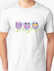 three wise owls Unisex T-Shirt