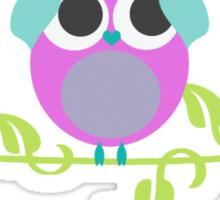 three wise owls Sticker