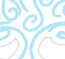 bonsai blue Sticker