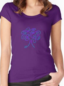 blue fire tree of life Women's Fitted Scoop T-Shirt