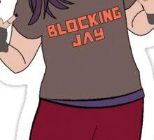 Blocking Jay Sticker