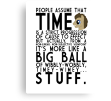 Wibbly Wobbly Timey Wimey Stuff (Doctor Whooves) Canvas Print