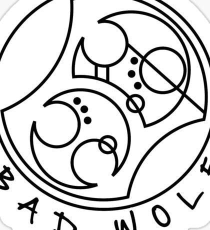 'Bad Wolf' in Gallifreyan  Sticker