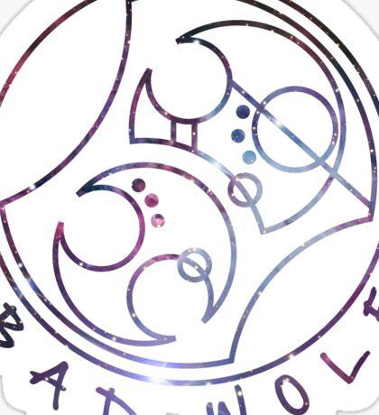 'Bad Wolf' in Gallifreyan - Galaxy Sticker