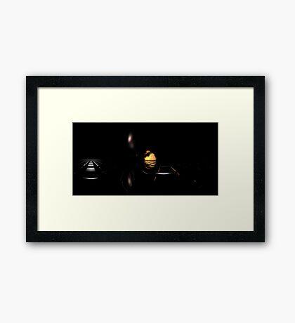 Darkness Borrows Light Framed Print