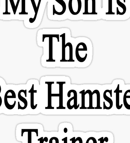 My Son Is The Best Hamster Trainer  Sticker