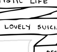 The Artistic Life - B&W Sticker