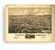 Panoramic Maps Plainville Connecticut 1878 Canvas Print