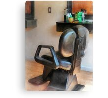 Barber Chair and Hair Supplies Canvas Print
