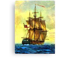 British warship  Canvas Print
