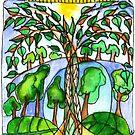 Treearium #2 - Happy little jar of trees by wiccked