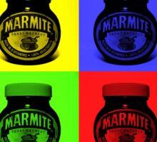 Marmite on Colour Small Sticker