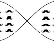 mustaches forever Sticker