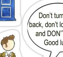 Doctor Who 10 Quote #1 Sticker