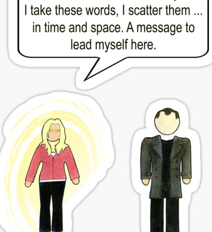 Doctor Who 9 Quote #2 Sticker