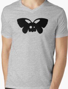 Cute Skull Moth Mens V-Neck T-Shirt