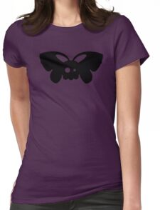 Cute Skull Moth Womens Fitted T-Shirt
