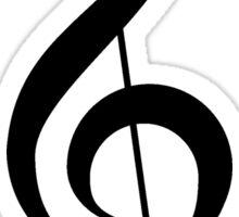 Black Treble Clef Design Duvet Cover Musician Quilt Sticker