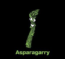 Not Asparagus - It's Asparagarry - The Coolest Vegetable In Garden T-Shirt Sticker by deanworld