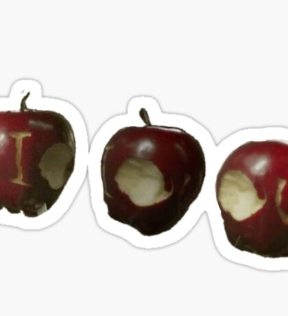 IOU Apples- Sherlock Sticker