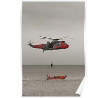 Seaking Helicopter at Dawlish Airshow Poster