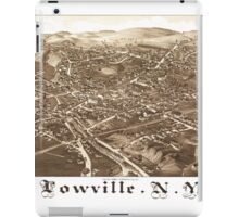 Panoramic Maps Lowville NY iPad Case/Skin