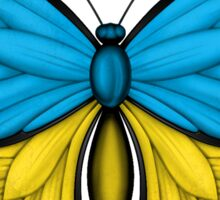 Ukrainian Flag Butterfly Sticker