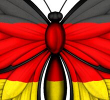 German Flag Butterfly Sticker