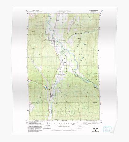 USGS Topo Map Washington State WA Acme 239726 1980 24000 Poster
