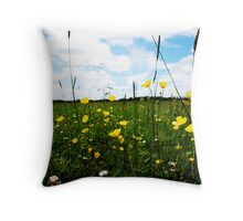 Buttercups and daisys Throw Pillow