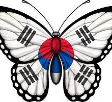 South Korean Flag Butterfly by Jeff Bartels