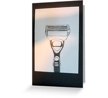 Black India ink Razor Greeting Card