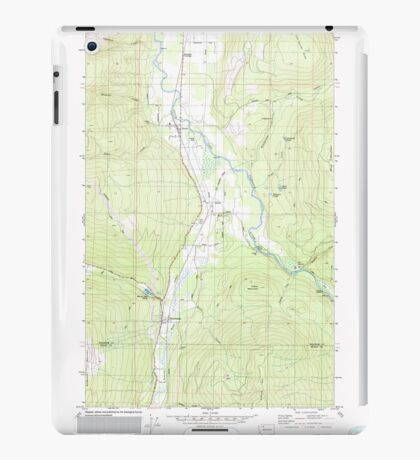 USGS Topo Map Washington State WA Acme 239726 1980 24000 iPad Case/Skin