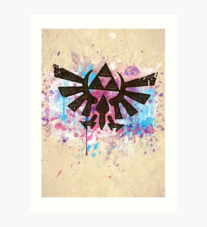 Triforce Emblem Splash Art Print