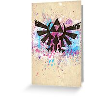 Triforce Emblem Splash Greeting Card