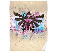 Triforce Emblem Splash Poster