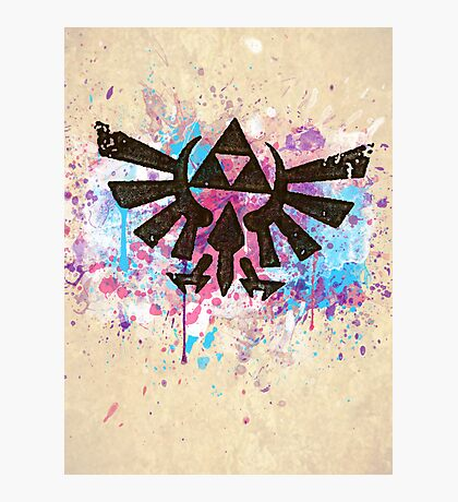 Triforce Emblem Splash Photographic Print