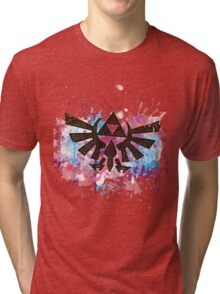 Triforce Emblem Splash Tri-blend T-Shirt