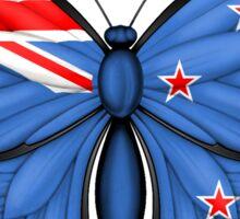 New Zealand Flag Butterfly Sticker