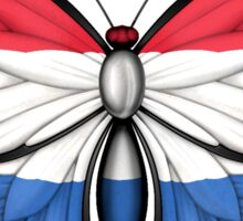 Dutch Flag Butterfly Sticker